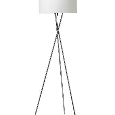 Nielsen Light Uptown gulvlampe i krom m.hvid skærm
