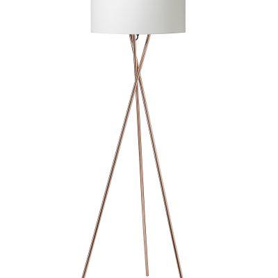 Nielsen Light Uptown gulvlampe i kobber m.hvid skærm