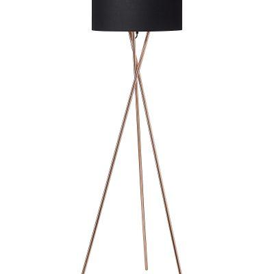 Nielsen Light Uptown gulvlampe i kobber m. sort skærm