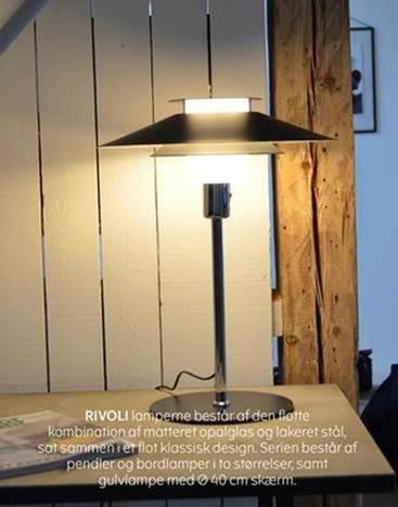 Halo design Rivoli bordlampe Ø40 sort/krom