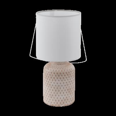 Eglo Bellariva bordlampe hvid/sand