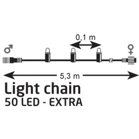 Marksløjd Chrissline tilkoblingskæde 5m LED