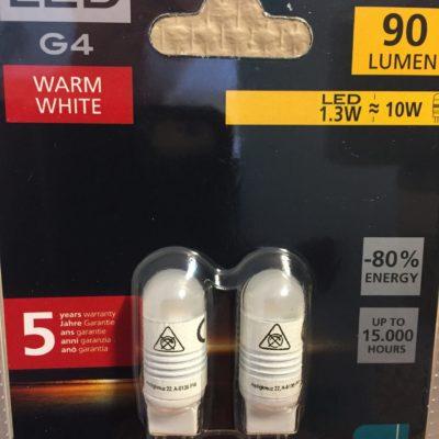 Eglo G4 LED 1,3w 2 stk pk.