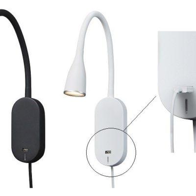Nielsen Light Eye væglampe med USB stik hvid