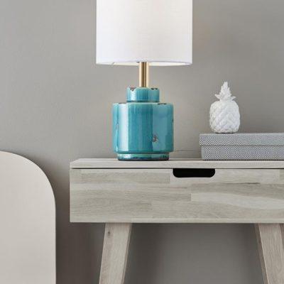 Mark Sløjd Cous bordlampe antique blå/hvid
