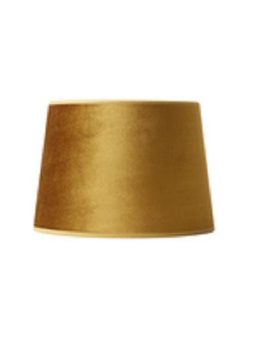 Nielsen Light velour lampeskærm guldgul 147324